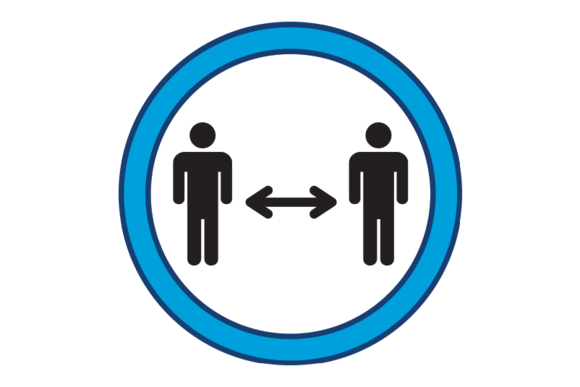 Graphic of two persons with an arrow spaced between.