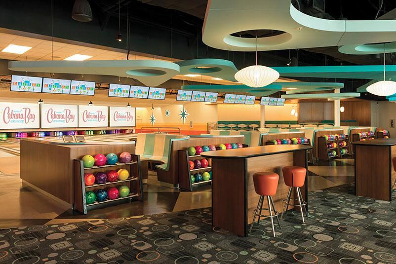 The Interior Of Galazy Bowl At Cabana Bay Beach Resort In Universal Orlando A Clic