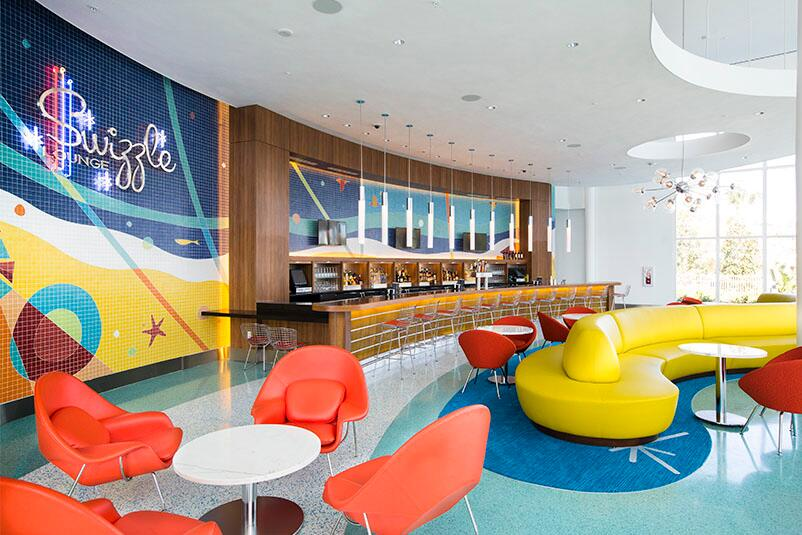 The Swizzle Lounge A Lobby Bar Inside Cabana Bay Beach Resort Retro Inspired