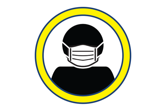 Illustration of a face mask.
