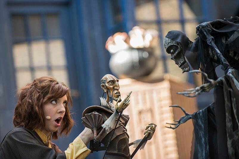Performer in the live show Tales of Beedle the Bard in The Wizarding World of Harry Potter Diagon Alley at Universal Studios Orlando.
