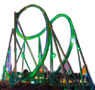 Picture of Hulk Coaster at Night at Islands of Adventure