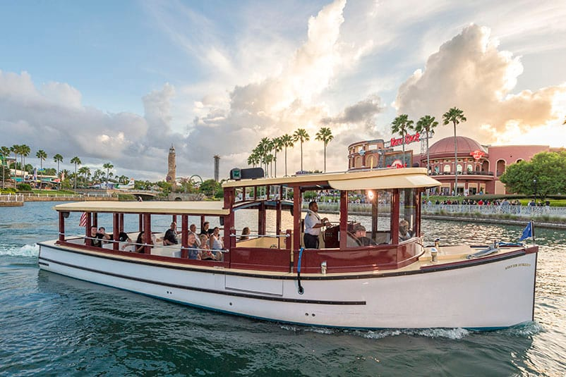 A Water Taxi Carries Guests To Citywalk From An On Site Resort Hotel At Universal Orlando
