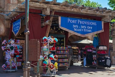 The outside of Port Provisions, a merchant style shop located in Universal's Islands of Adventure.