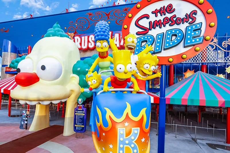 The entrance to the Simpsons Ride at Universal Studios Orlando.
