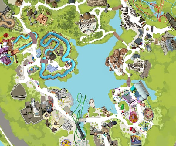 Florida Attractions Map.Universal S Islands Of Adventure Theme Park Universal Orlando