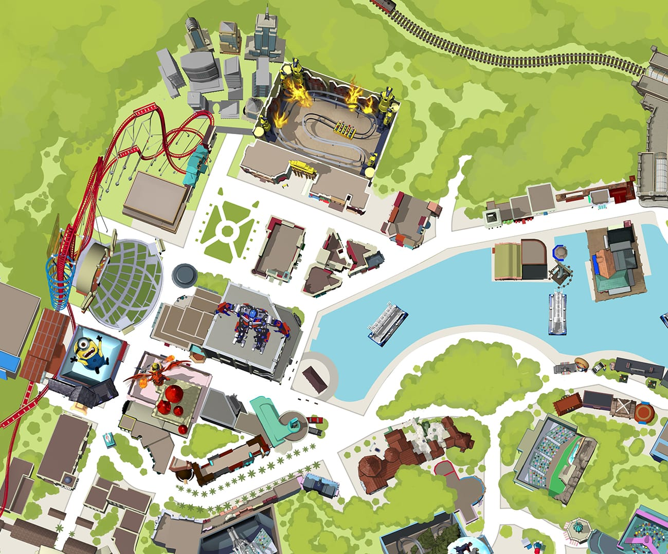 universal studios florida map diagon alley