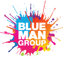 Logo for Blue Man Group who perform outrageous live shows at Universal Studios Orlando.