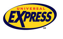 The logo for Universal Express Pass, a product that allows guests to skip the regular line at select rides and attractions at Universal Orlando's theme parks.