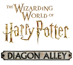 The logo for the Diagon Alley area of the Wizarding World of Harry Potter, a land inside Universal Studios Florida theme park in Orlando.